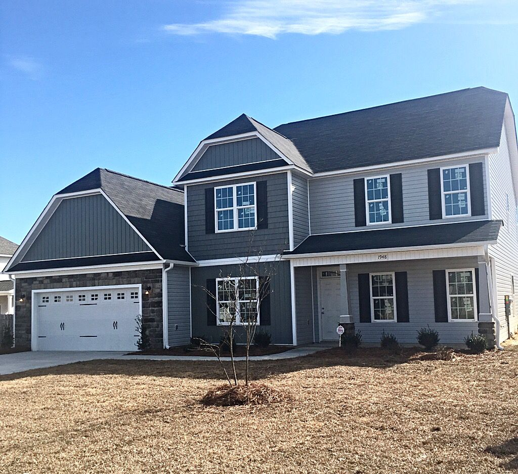 timeless gray tone on tone exterior colors with stone accents and rh pinterest com