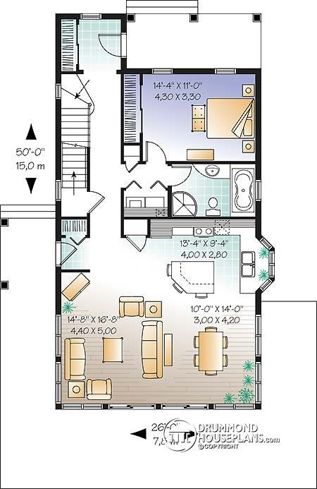 Discover The Plan 3510 Evergreene Which Will Please You For Its 2 3 Bedrooms And For Its Cottage Chalet Cabin Styles Country Style House Plans One Bedroom House Plans Cottage Plan