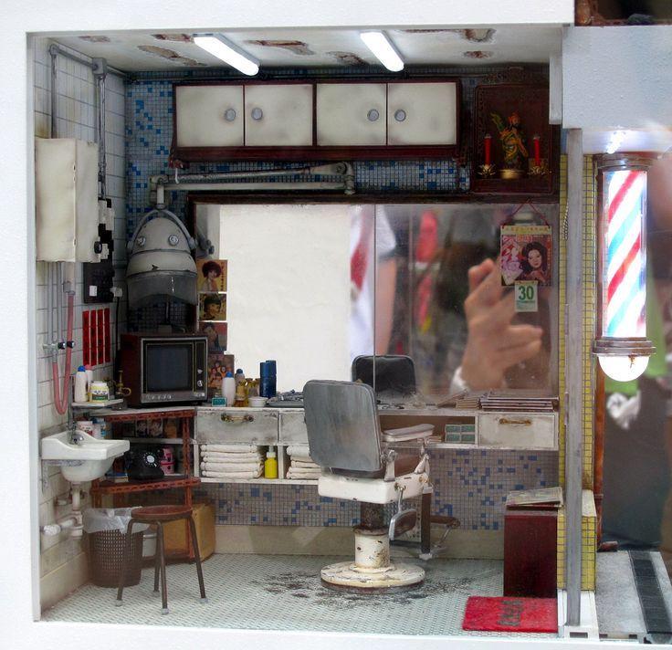 IMG0185 Barber ShopDollhouse MiniaturesDiy IMG0185