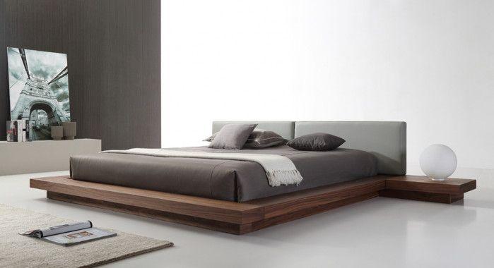 modrest opal modern walnut grey platform bed in 2018 furniture rh pinterest co uk