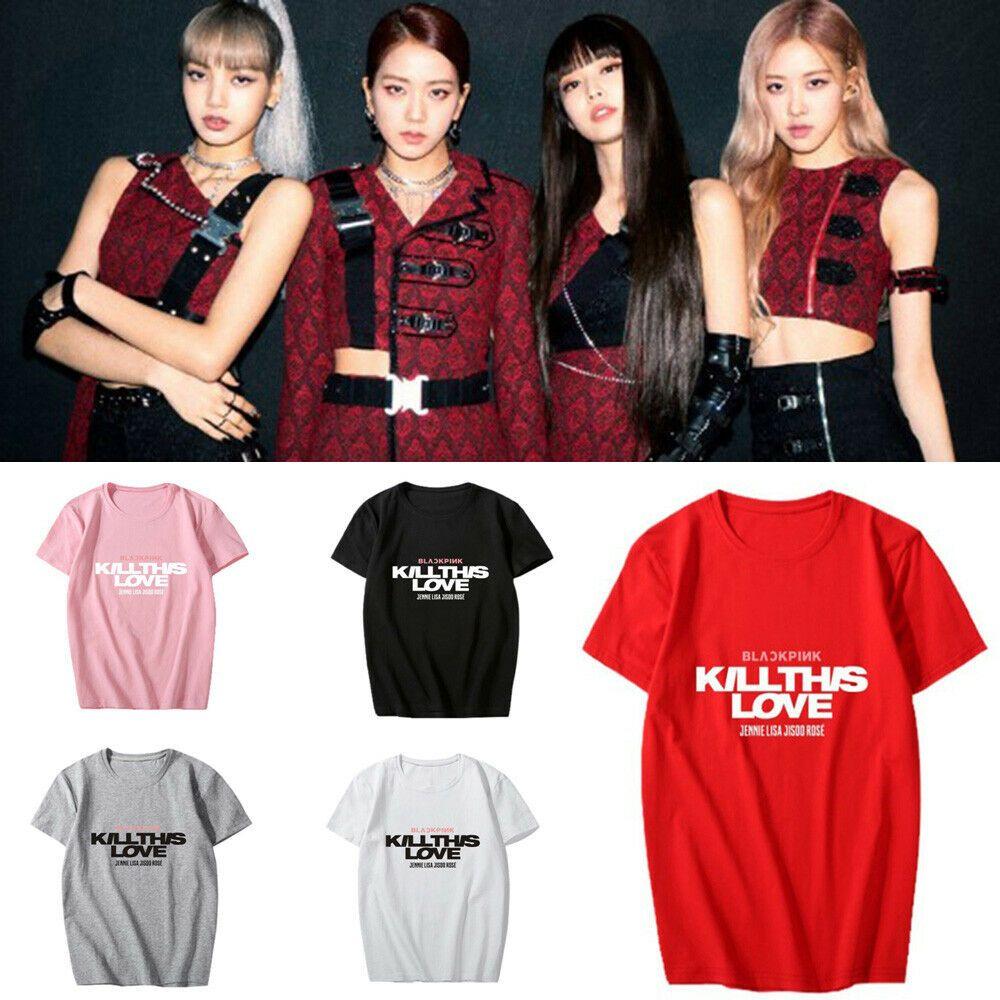 KPOP BLACKPINK T-Shirt Jennie Jisoo Lisa Rose Women Girls Unisex Adults Tee Tops