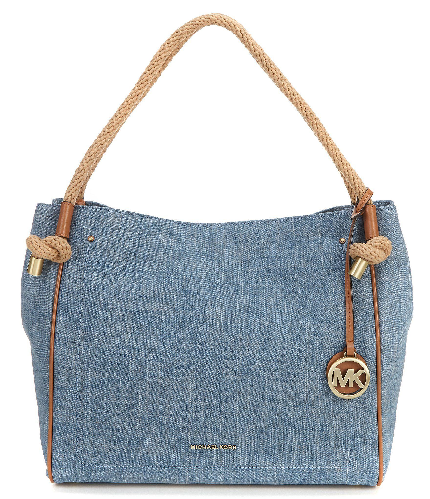 Shop for MICHAEL Michael Kors Isla Large Denim Grab Bag at