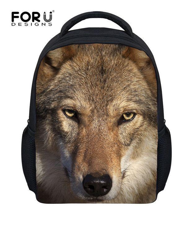 Huskies Printed Child School Bags Animal Small Backpack For Baby Boys Mochila Infantil Dog Schoolbag Kindergarten Kids Bookbag