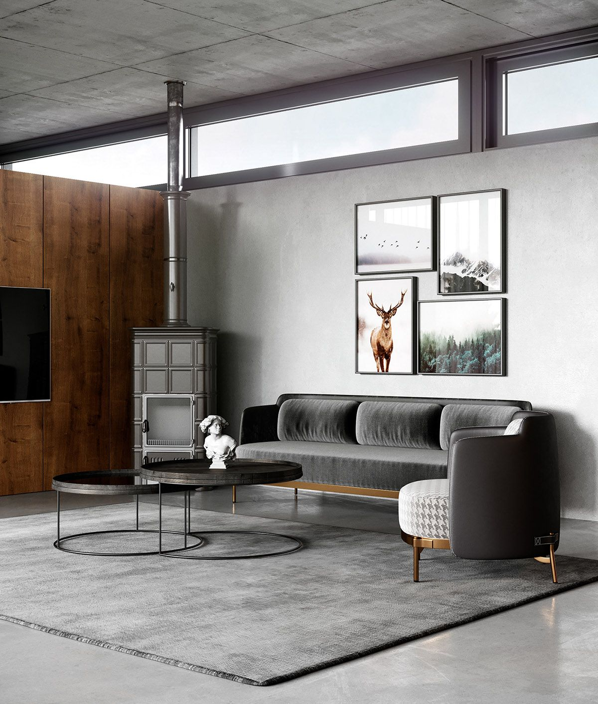2 sophisticated industrial style homes living room ideas rh pinterest com