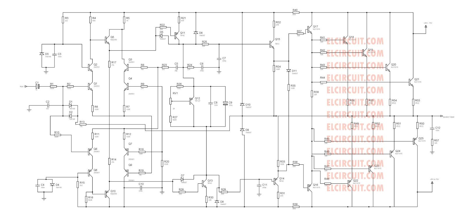 2800w High Power Amplifier Circuit Updated 2018 2000w Amp Ocl Using Sanken Pa Schematic Diagram