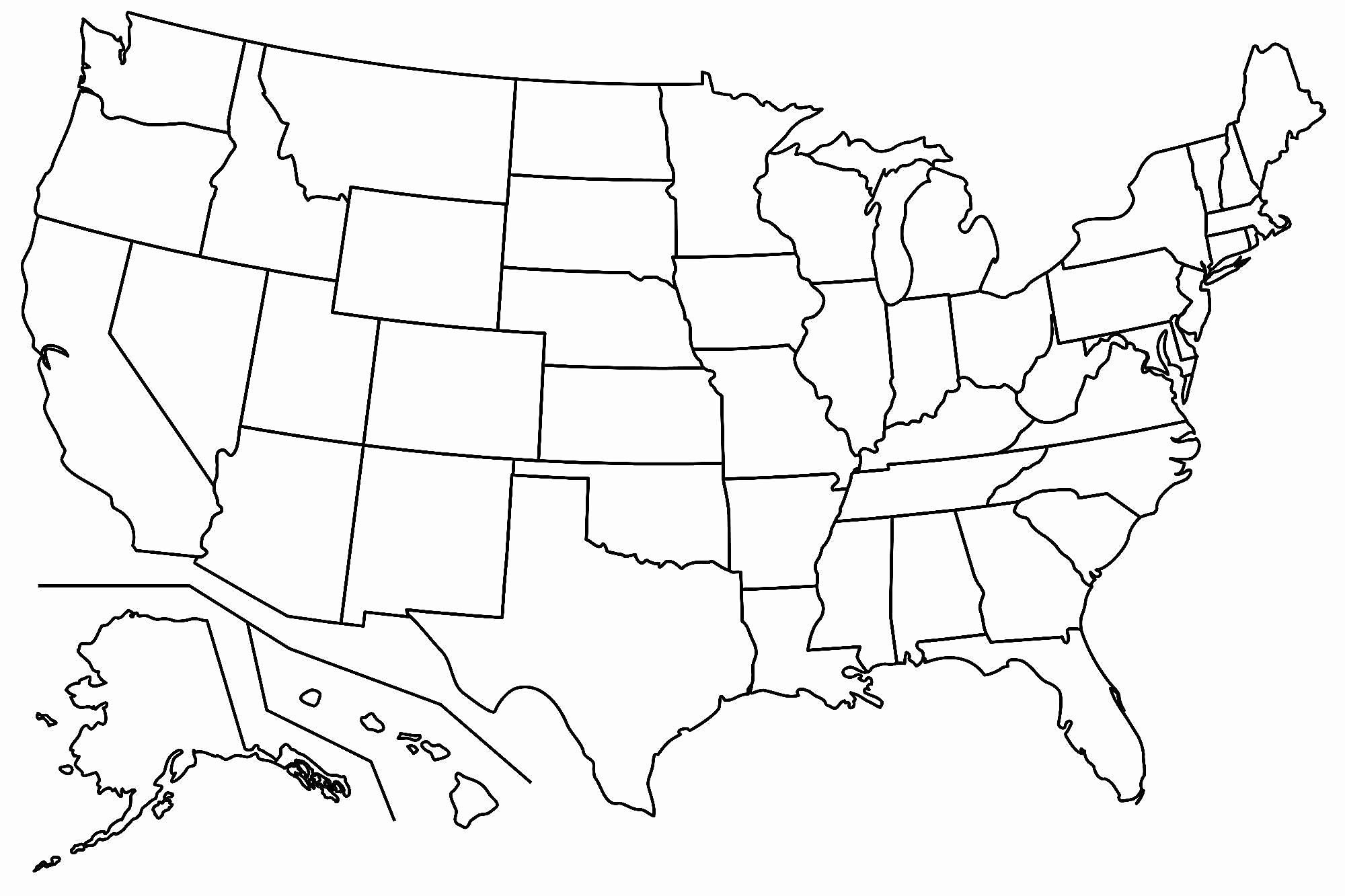 Free Printable Us Map Blank Blank Us Map Printable My Blog