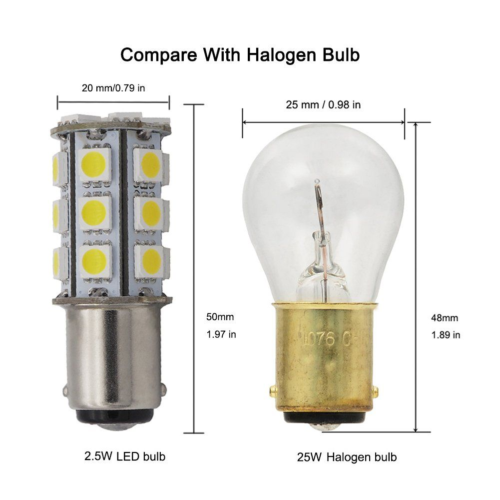 Grv Ba15d 1142 High Bright Car Led Bulb 245050smd Ac Dc 12v24v Cool White Pack Of 2 Click Image To Evaluate More Details This Is An In 2020 Led Bulb Bulb Car Led