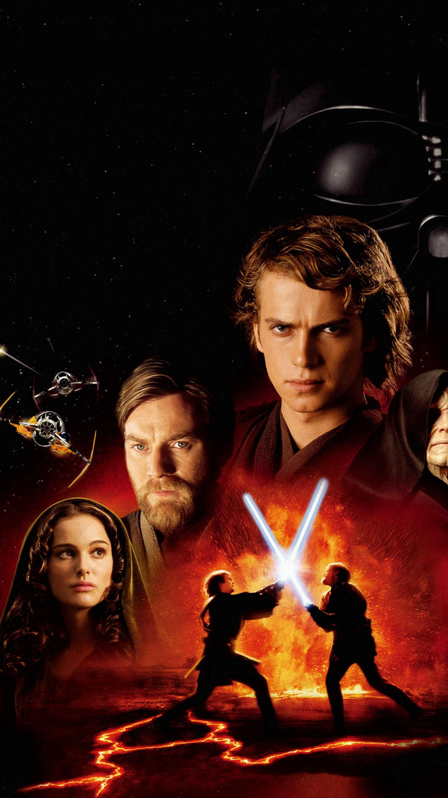 Star Wars Episode Iii Revenge Of The Sith 2005 Phone Wallpaper Moviemania Star Wars Images Star Wars Pictures Star Wars Anakin