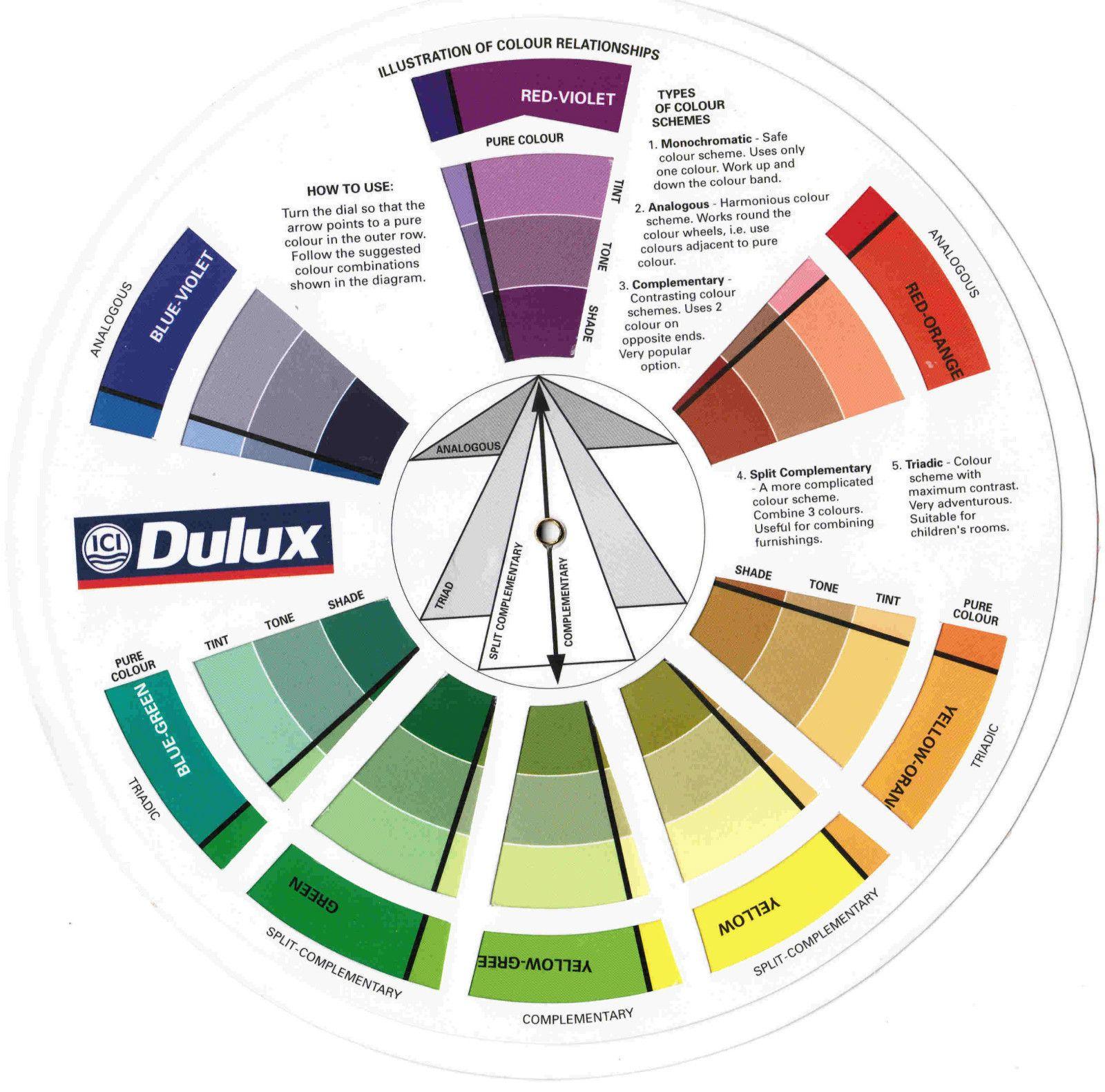 Ici Dulux Color Wheel Dulux Paint Colour Chart Paint Color Chart