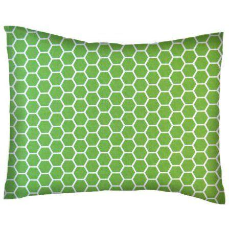 SheetWorld Crib / Toddler Pillow Case - Cotton Percale - Citrus Honeycomb