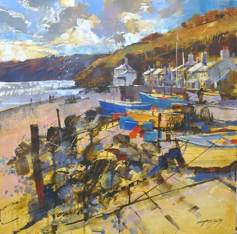 Sparkling light and westerly skies, Beesands by CHRIS FORSEY