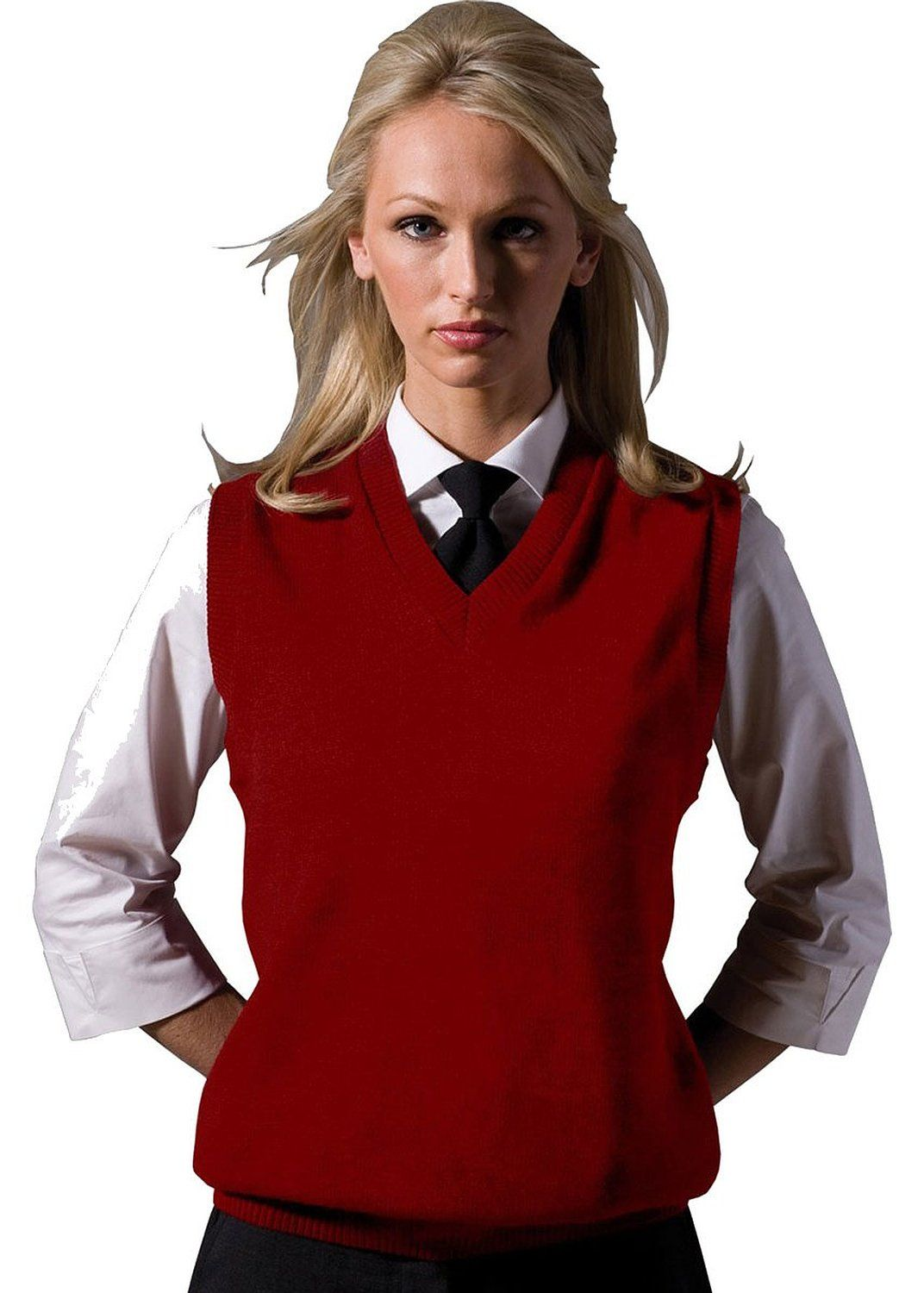 11b7d602727dac Ed Garments Women s V-Neck Durable Sweater Vest at Amazon Women s Clothing  store