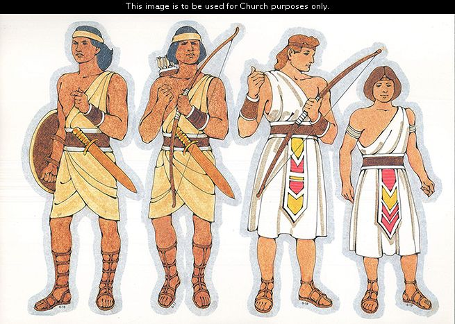 Primary Cutouts Of A Lamanite Warrior Holding A Shield A