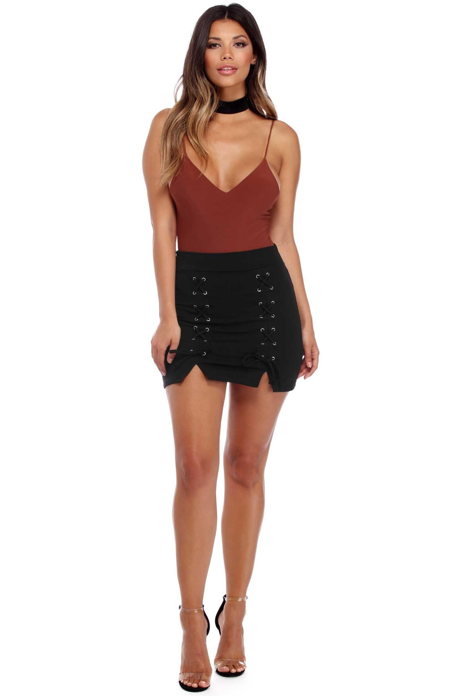 Black Seal The Deal Mini Skirt