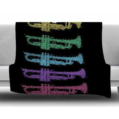 KESS InHouse Trumpet Arch by BarmalisiRTB Fleece Blanket