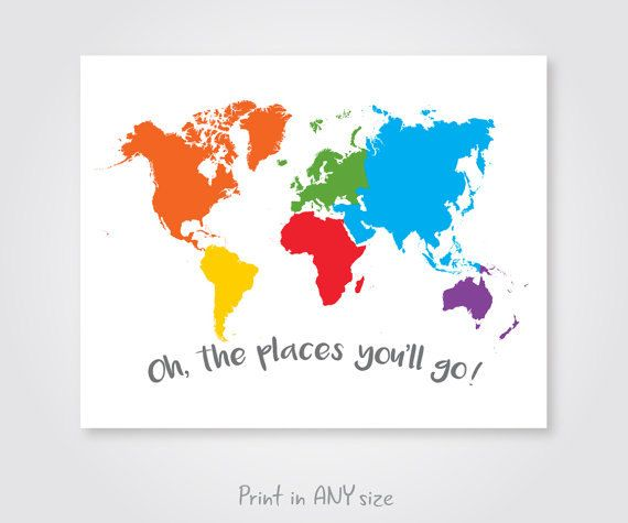 Large colorful world map nursery download world continents kids large colorful world map nursery download by sunnyrainfactory gumiabroncs Image collections