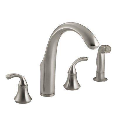 kohler fort 4 hole kitchen sink faucet with 7 3 4 spout matching rh pinterest com