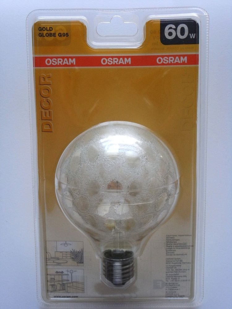 osram globe g95 croco gold 60w 60 watt gl hbirne gl hlampe lampe e27 neu leuchtmittel. Black Bedroom Furniture Sets. Home Design Ideas