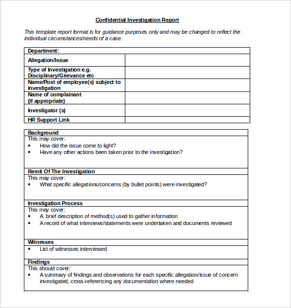 Fault Report Template Word 9 Professional Templates Report Template Templates Professional Templates