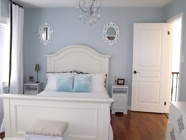 Blue Small Bedroom Ideas With White Furniture Light Blue Bedroom Blue Bedroom Walls Small Guest Bedroom