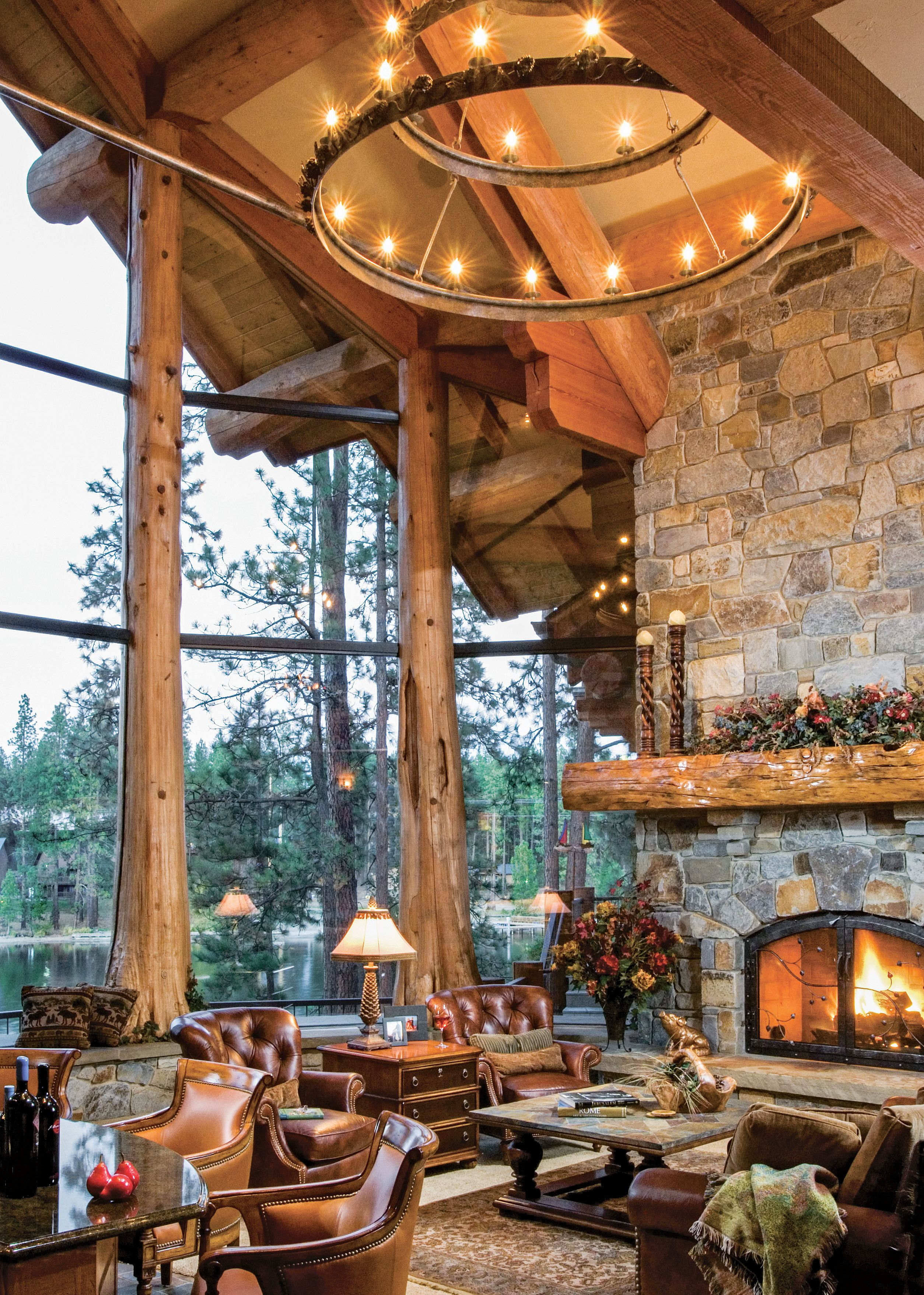 5 jaw dropping log and timber great rooms log home great rooms rh pinterest com
