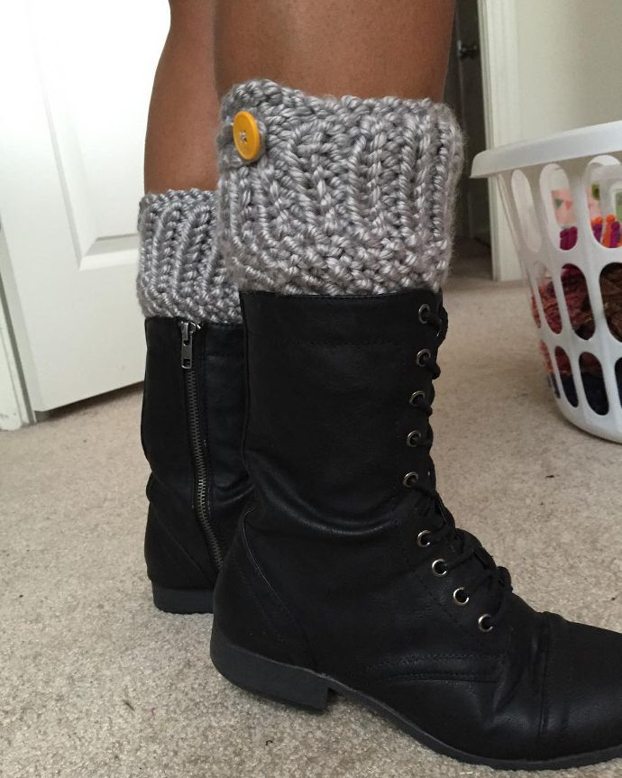 Loom Knitted Boot Cuffs By Bombshellbby Subscribers Creations