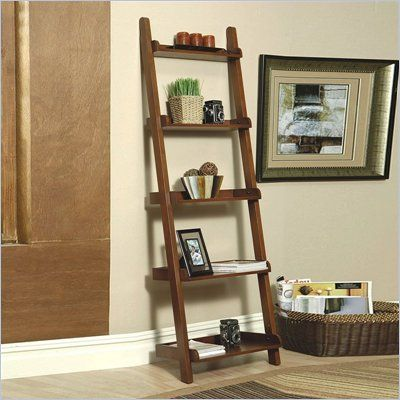 coaster weathered leaning bookcase in mahogany features rich rh pinterest com