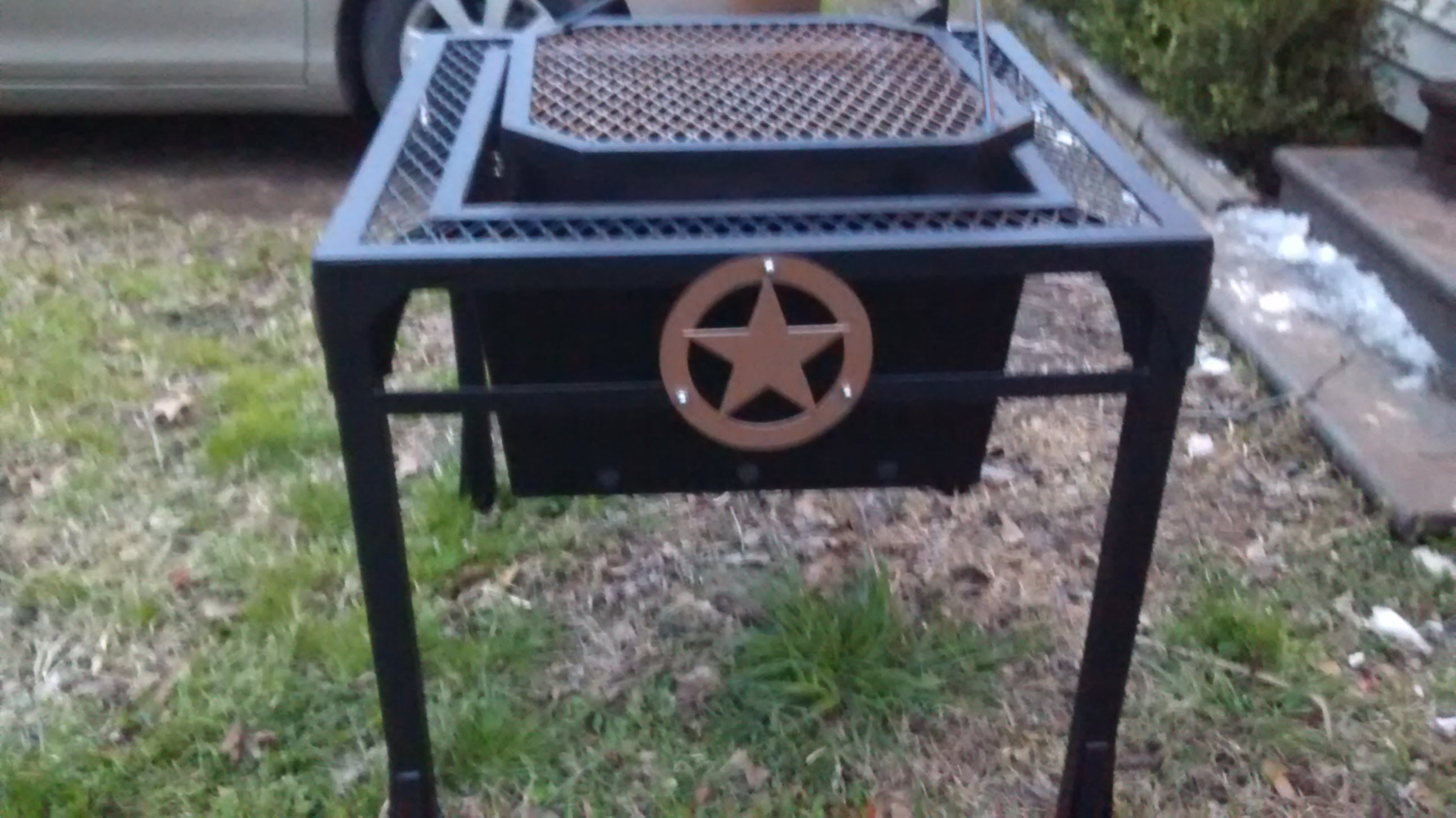 Western fire pit/grill build