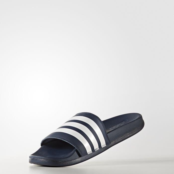 huge discount 7377a 385a5 Adilette Cloudfoam Plus Stripes Slides Navy Blue 11 Womens