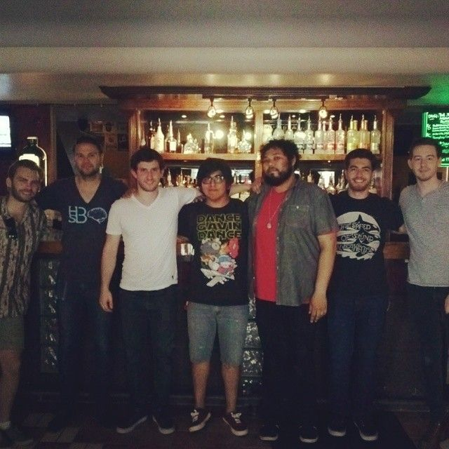 Finally a pic with the entire band! — with Matthew Mingus, Tilian Pearson and William Swan.