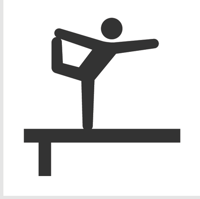 Athletics and Gymnastics Icon Set - Balance Beam | Clipart ...