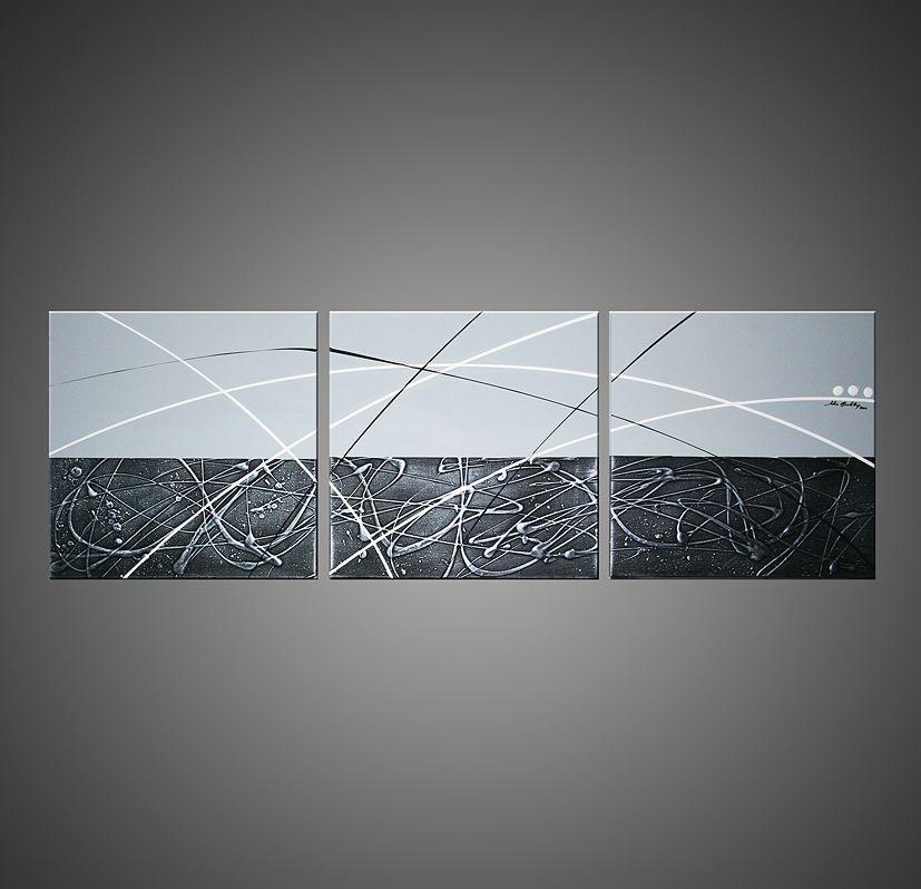Tableau design gris strum tableau abstrait design art for Tableau deco contemporain