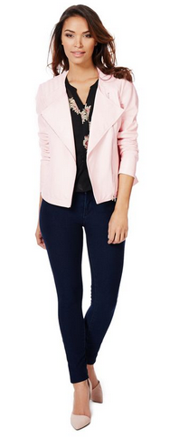 Quilted Faux Leather Jacket http://goo.gl/uT5Dnq