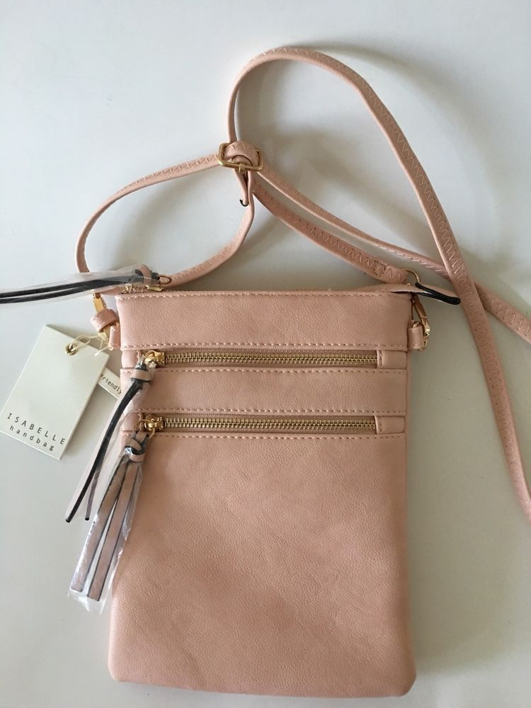 choose clearance up-to-date styling sale Isabelle Handbag • Vegan Friendly • Lead Free Pink Crossbody ...