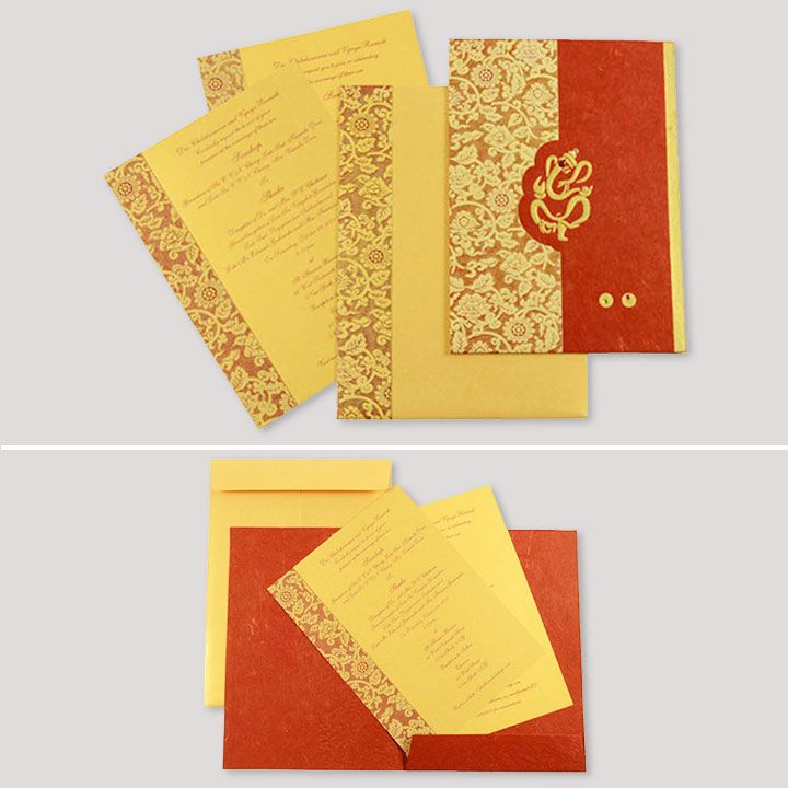 indian wedding cards wordings in hindi%0A Hindu Wedding Cardsred and yellow card