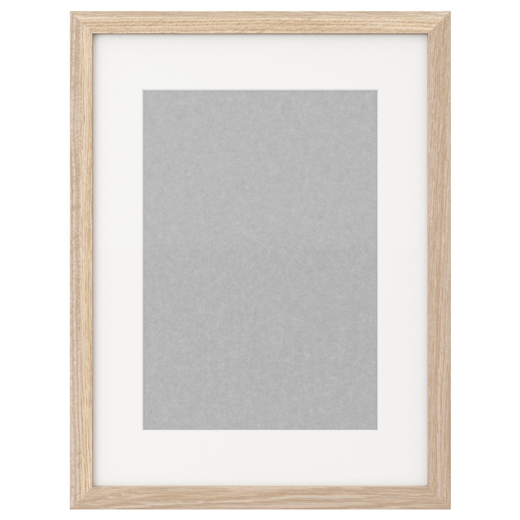 RIBBA Frame - white stained oak effect - IKEA $14.99 Size 30x40 cm ...