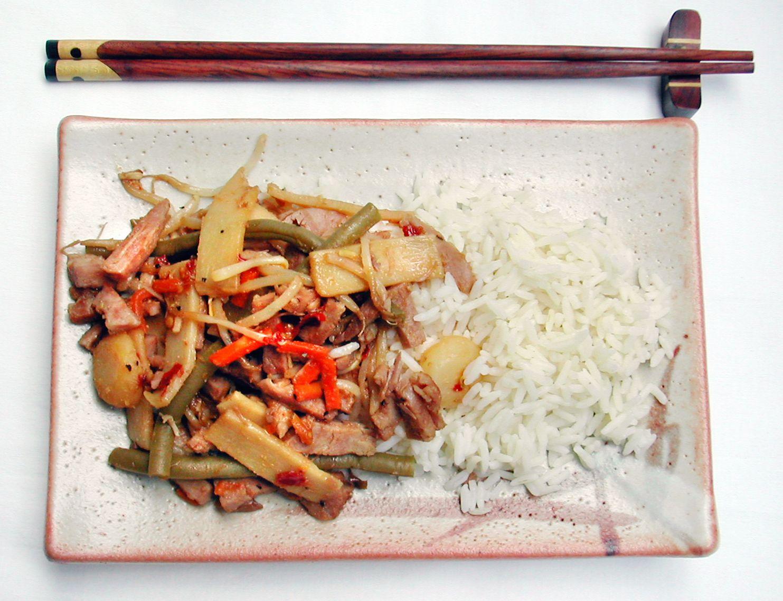 fläskkött wok recept