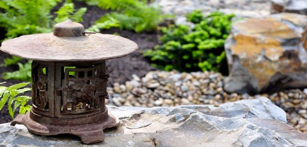 Outdoor lanterns backyard lighting asia americana bombay a lovely touch in this edmonton garden mozeypictures Gallery