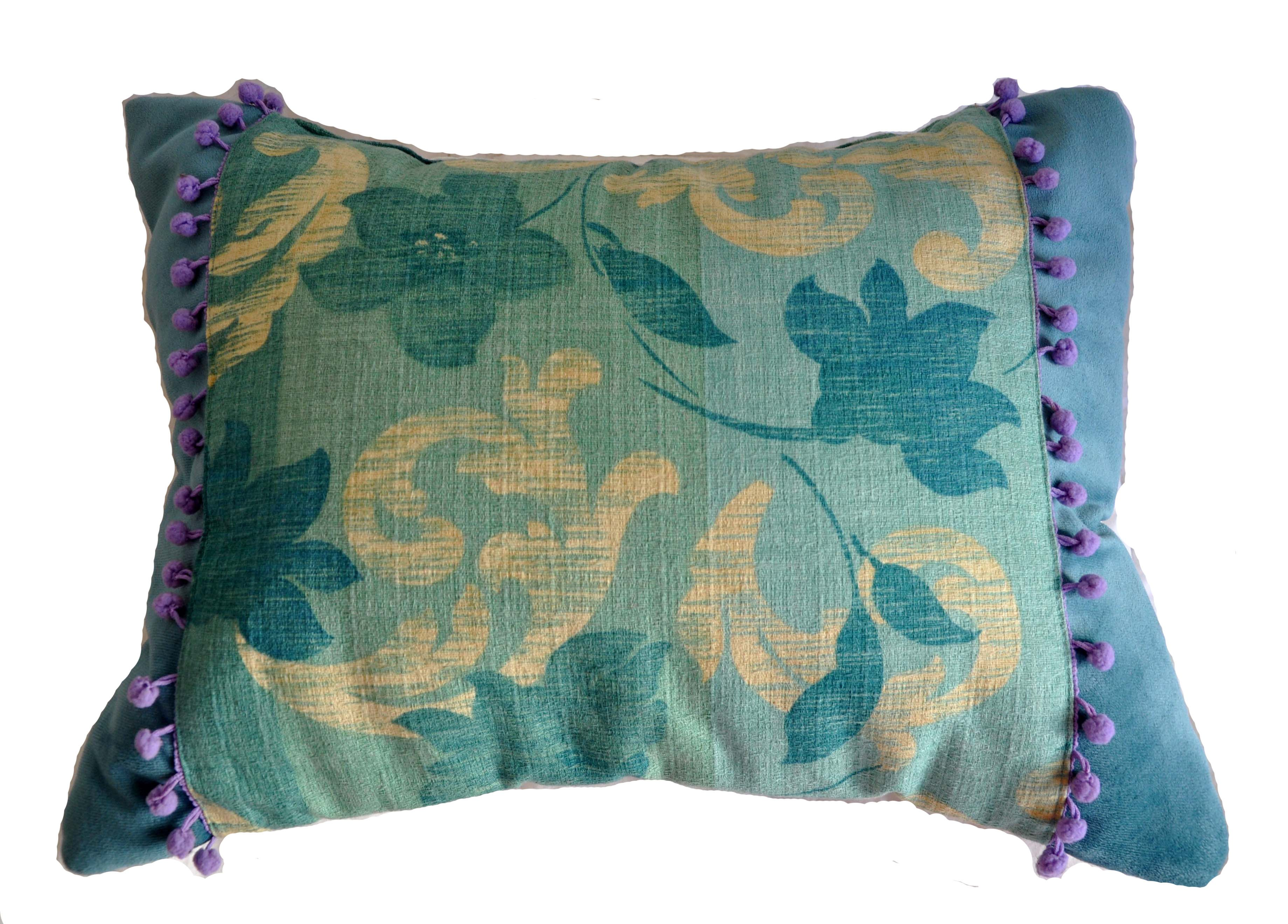 Almohadón Clöe Pana de algodón + Gross Poesia Detalles: galeones lilas Tamaño: 50x30