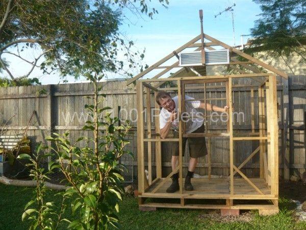 P1080843 600x450 Pallets Chicken House in pallet garden diy pallet ideas  with shed Pallets House Chicken Coop