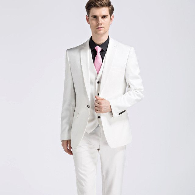 Men White Suits for Wedding Costume Home Slim Fit Burgundy Groom ...