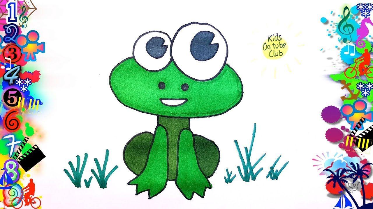 Como Dibujar Una Rana Facil Para Ninos How To Draw A Frog Dibujos Faciles Dibujos Faciles Para Ninos Dibujos Kawaii Faciles