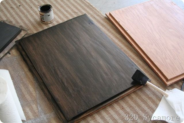 Already Stained Wood Can Be Further A Darker Shade Without Sanding The Raw With Gel Stain