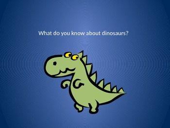 dinosaur powerpoint flashcards esl dinosaur facts sentence rh pinterest com