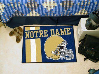 "Notre Dame Uniform Inspired Starter Rug 19""x30"""
