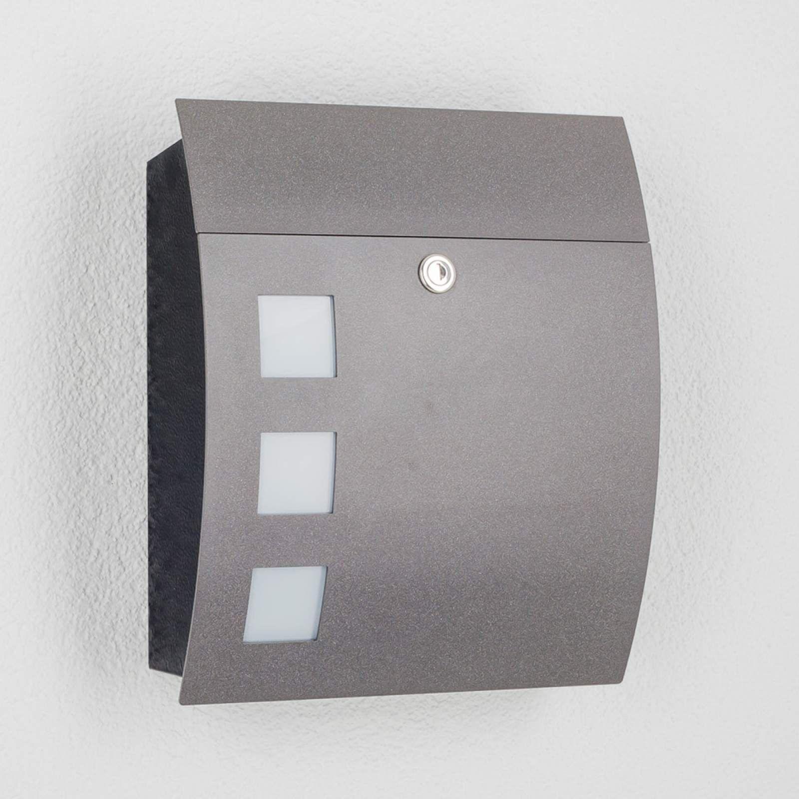 Moderner Briefkasten Nila Von Cmd Schwarz Briefkasten Anthrazit