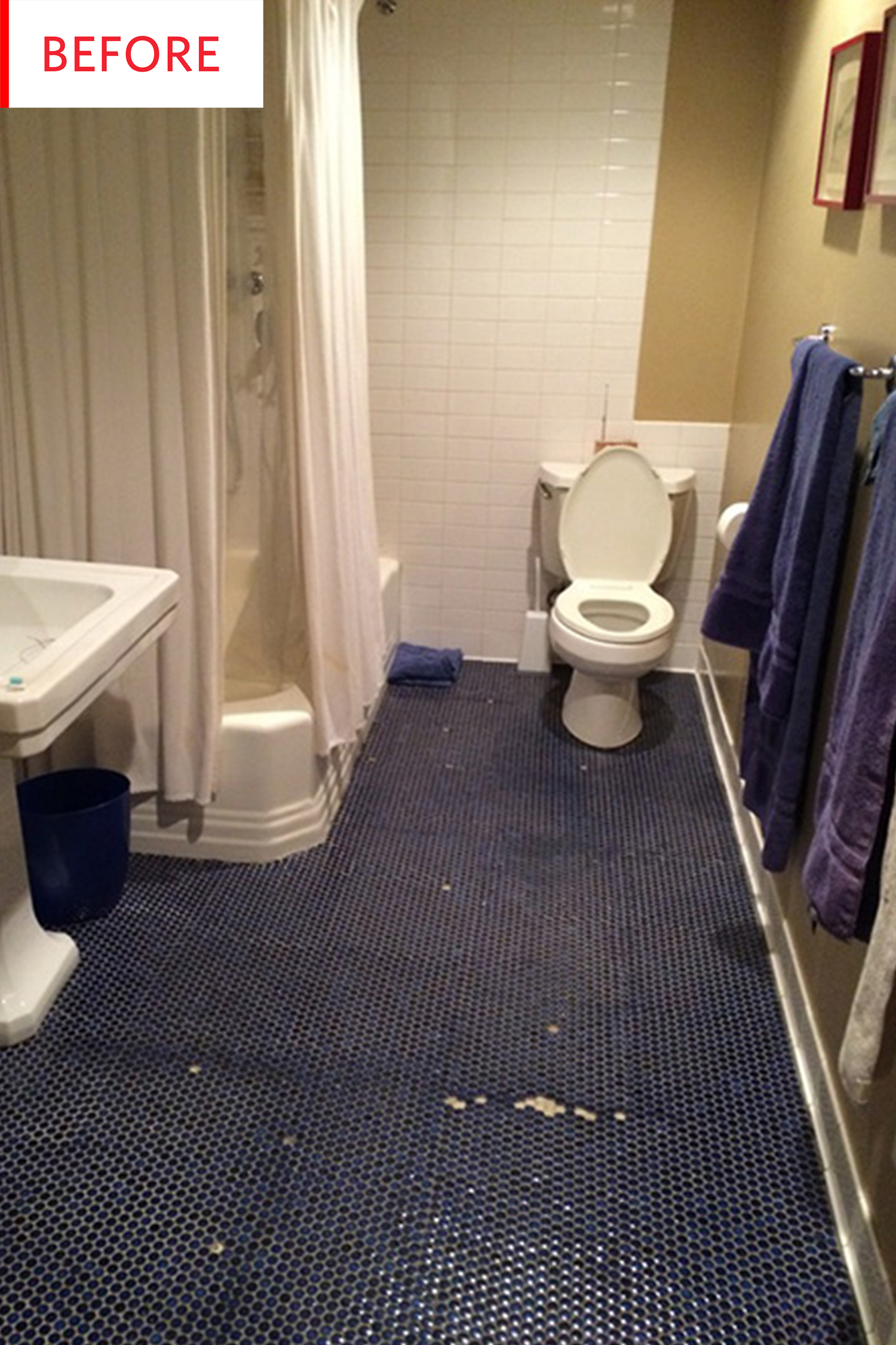 before and after this bathroom got the perfect paint job decor rh in pinterest com