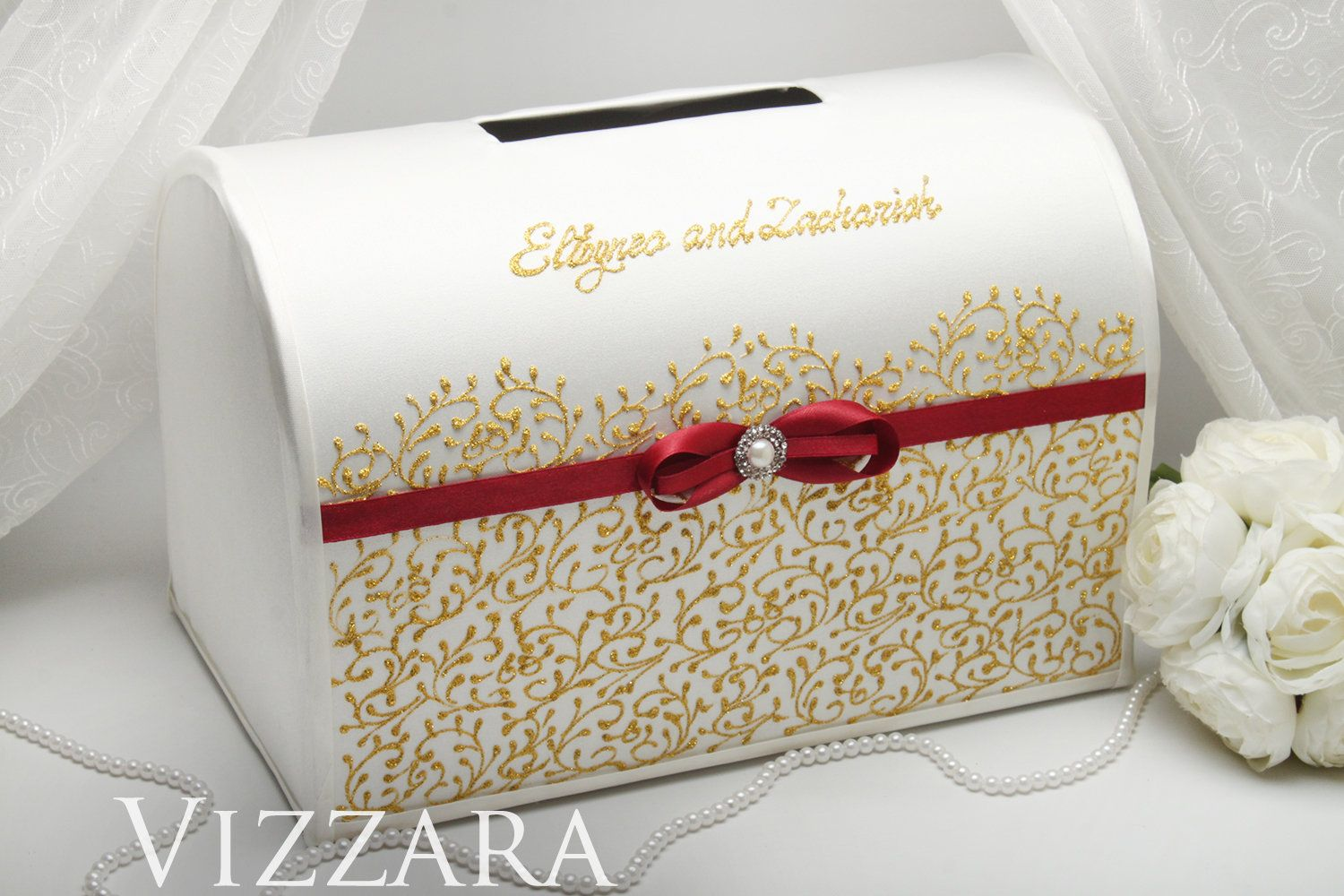 Wedding Card Box Gold Wedding Card Box For Wedding Burgundy And Gold