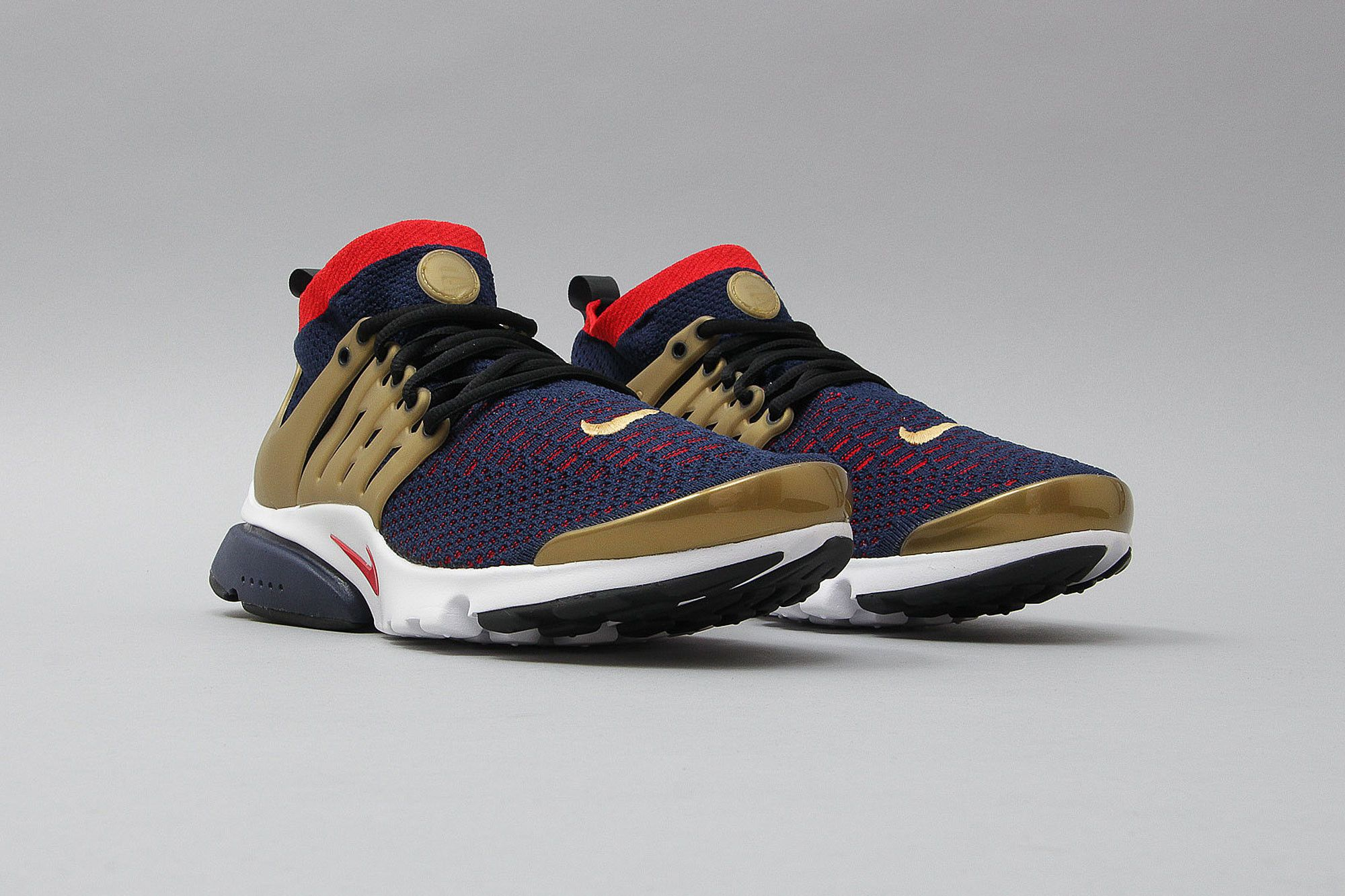 detailed pictures df456 1ab7f Nike Air Presto Ultra Flyknit College Navy Comet Red Metallic Gold 835570  406 (Blau Rot