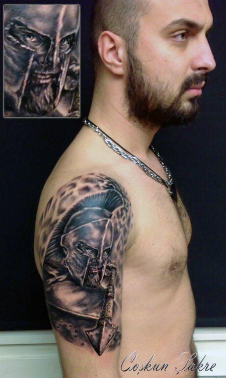 300 spartan tattoo designs and ideas on arm 300 spartan for Custom tattoo armrest for sale